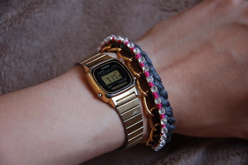 DIY bracelet tressé à strass graphic