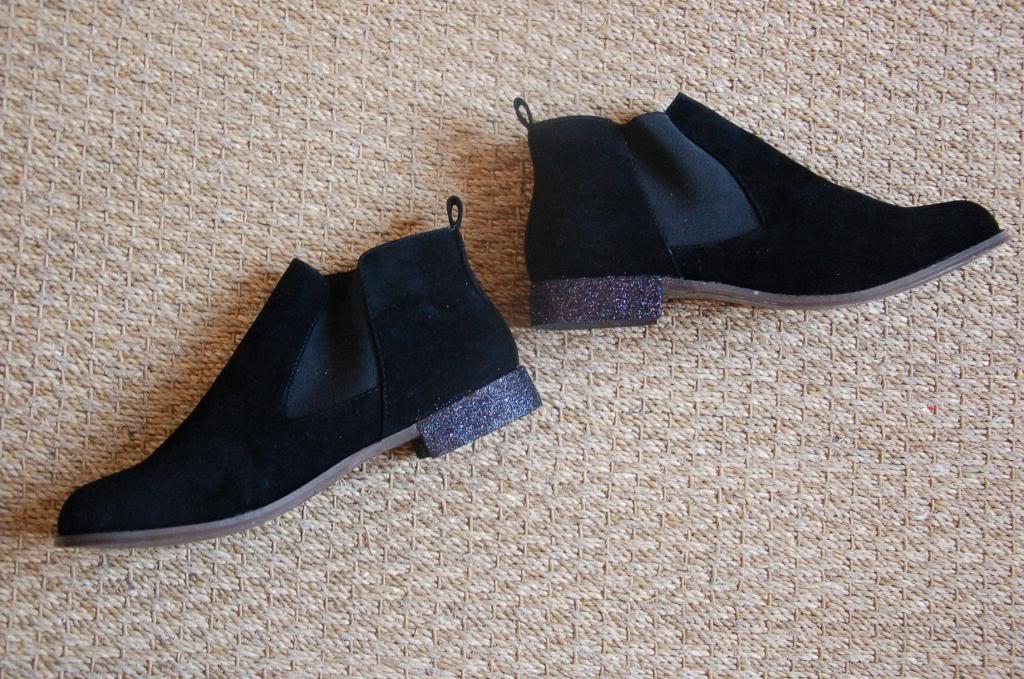 DIY chelsea boots talons paillettés graphic