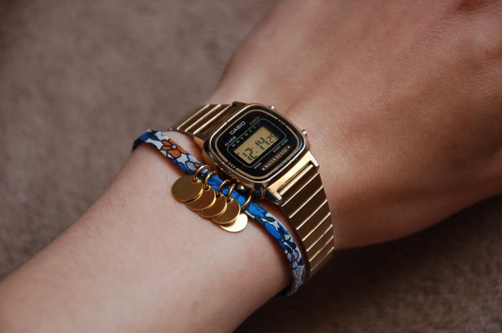 DIY bracelet pastilles et liberty graphic