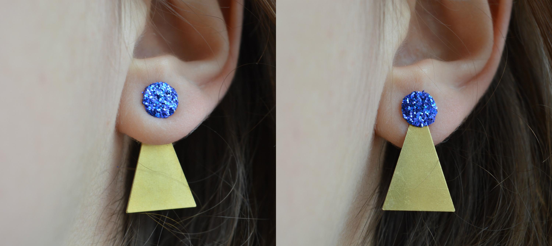DIY – Boucles d'oreilles géométriques et pailletées réversibles (+surprise) graphic