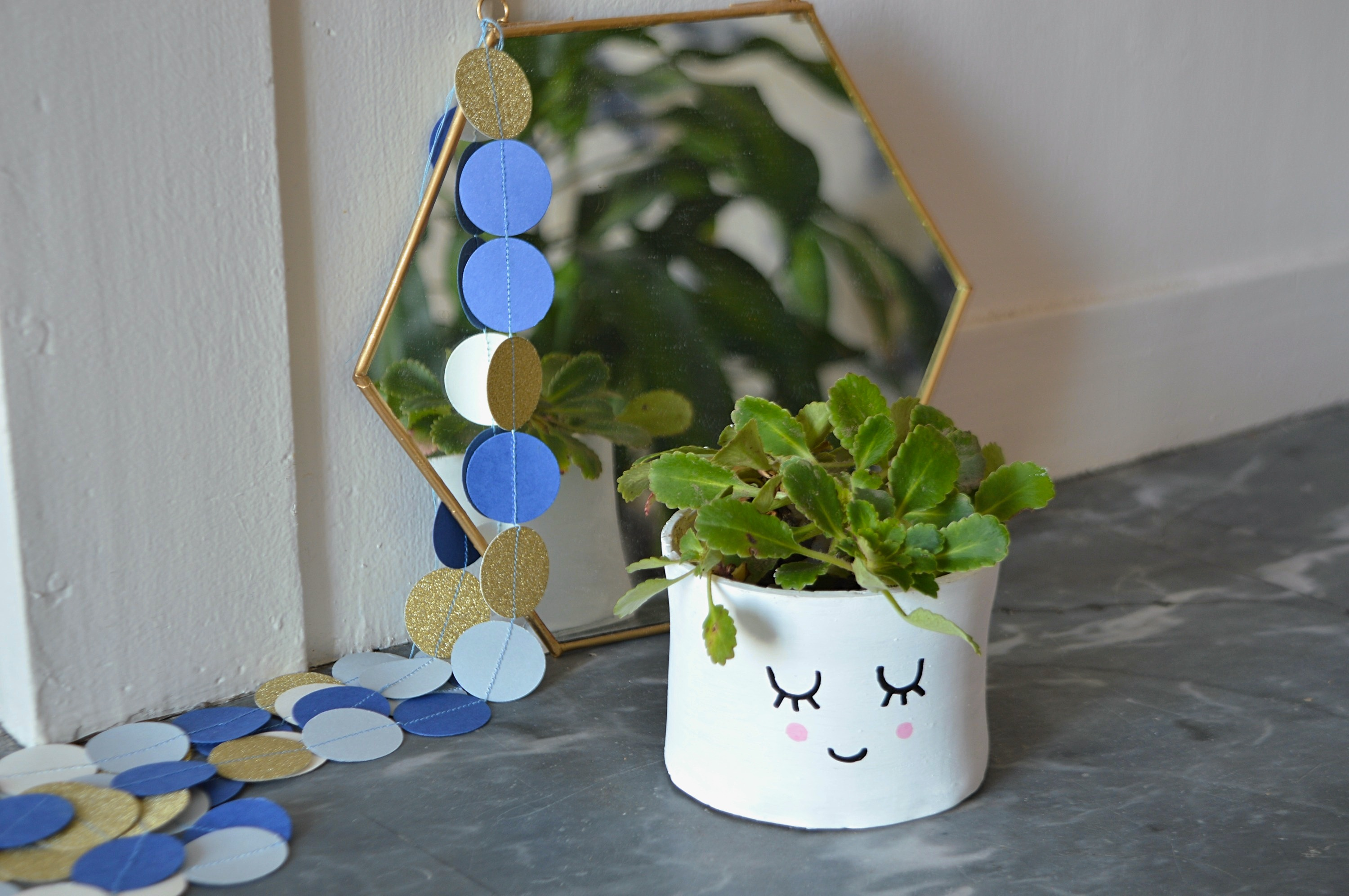 DIY – Cache-pot visage graphic