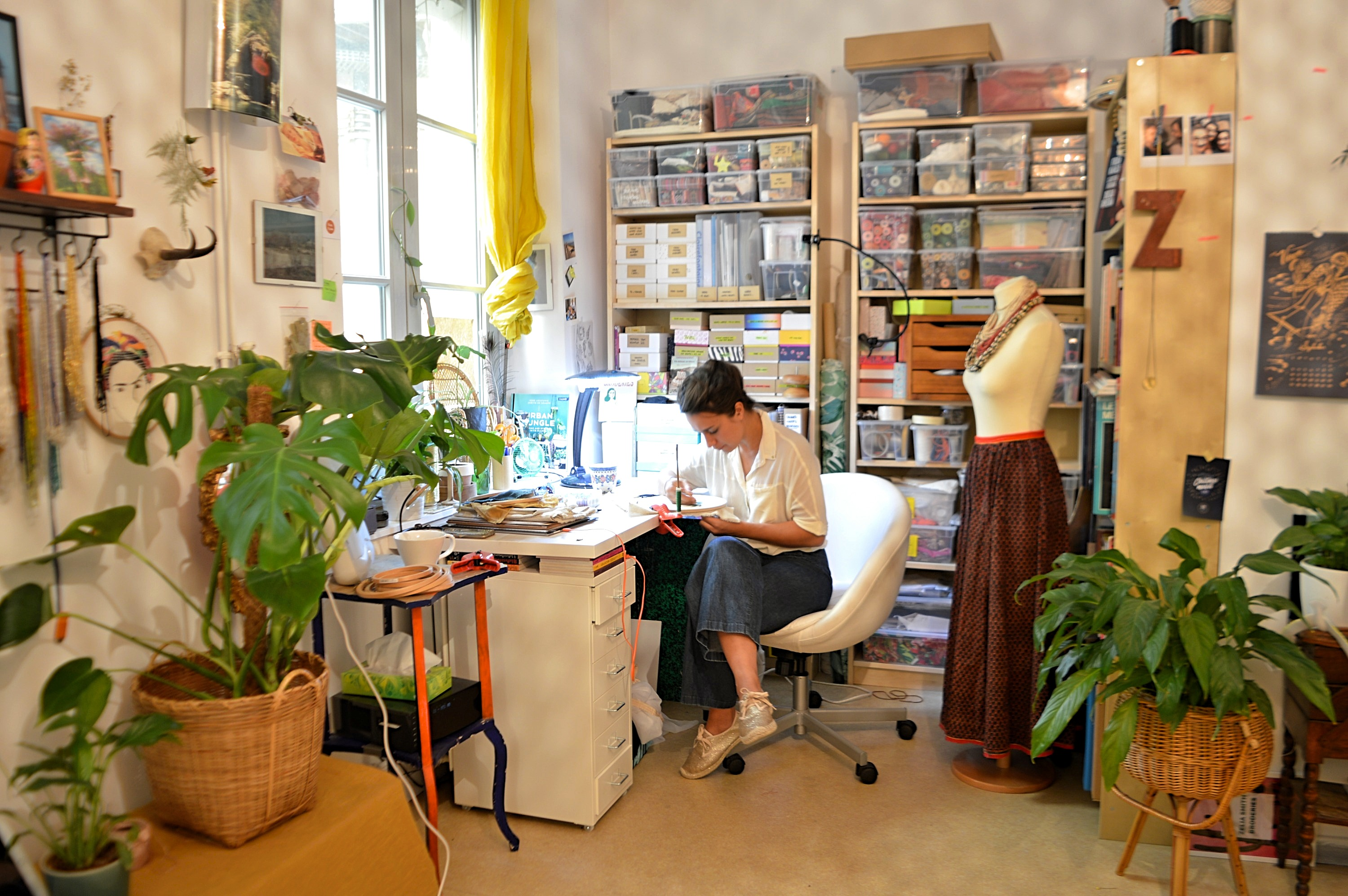 Dans l'atelier de Zélia Smith Broderies